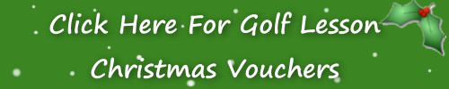 Golf Lesson Christmas Vouchers
